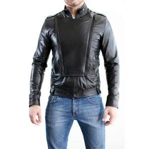Giubbotto Giacca In Pelle PU Uomo Slim Produzione Artigianale Cod.113 Rindway