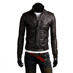 Genuine Leather Jacket Biker Coat Men's Slim Hand Made in Italy Cod.246 Rindway