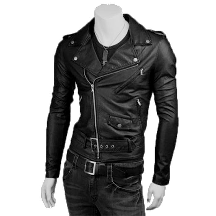 designer fashion c599b 8580d Giubbotto Giacca In Pelle PU Uomo Slim Produzione Artigianale Cod.249  Rindway