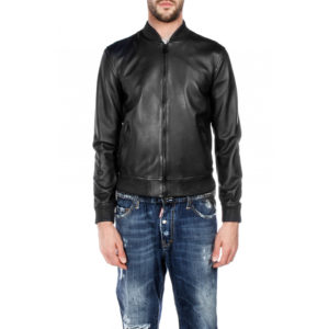 Genuine Leather Jacket Biker Coat Men's Slim Hand Made in Italy Cod.008 Rindway