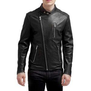 Genuine Leather Jacket Biker Coat Men's Slim Hand Made in Italy Cod.048 Rindway