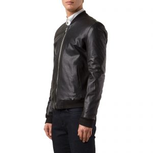 Genuine Leather Jacket Biker Coat Men's Slim Hand Made in Italy Cod.019 Rindway