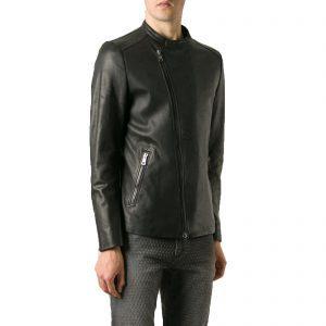 Genuine Leather Jacket Biker Coat Men's Slim Hand Made in Italy Cod.020 Rindway