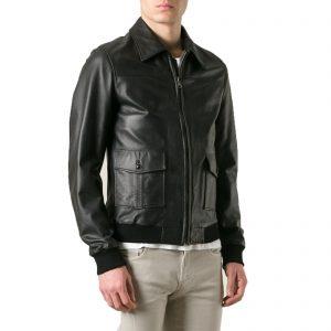 Genuine Leather Jacket Biker Coat Men's Slim Hand Made in Italy Cod.024 Rindway