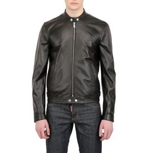 Genuine Leather Jacket Biker Coat Men's Slim Hand Made in Italy Cod.007 Rindway