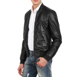 Genuine Leather Jacket Biker Coat Men's Slim Hand Made in Italy Cod.011 Rindway