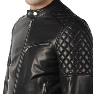 Genuine Leather Jacket Biker Coat Men's Slim Hand Made in Italy Cod.004 Rindway
