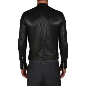 Genuine Leather Jacket Biker Coat Men's Slim Hand Made in Italy Cod.003 Rindway