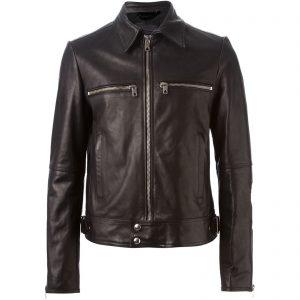 Genuine Leather Jacket Biker Coat Men's Slim Hand Made in Italy Cod.032 Rindway