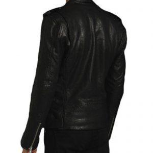 Giubbotto Giacca In Pelle PU Uomo Slim Produzione Artigianale Cod.034 Rindway