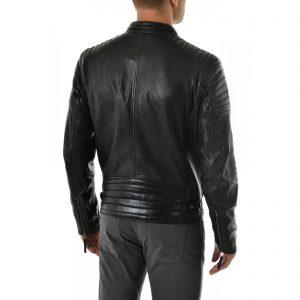 Giubbotto Giacca In Pelle PU Uomo Slim Produzione Artigianale Cod.076 Rindway