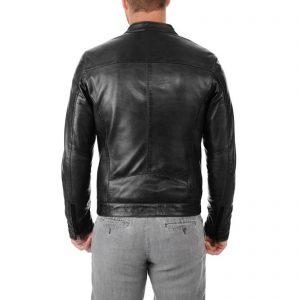 Genuine Leather Jacket Biker Coat Men's Slim Hand Made in Italy Cod.085 Rindway