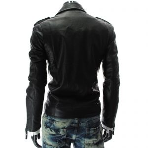 Genuine Leather Jacket Biker Coat Men's Slim Hand Made in Italy Cod.012 Rindway