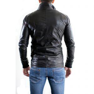 Giubbotto Giacca In Pelle PU Uomo Slim Produzione Artigianale Cod.114 Rindway