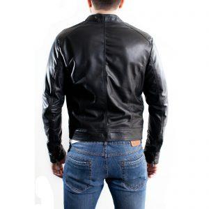 Giubbotto Giacca In Pelle PU Uomo Slim Produzione Artigianale Cod.116 Rindway