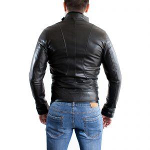 Giubbotto Giacca In Pelle PU Uomo Slim Produzione Artigianale Cod.117 Rindway