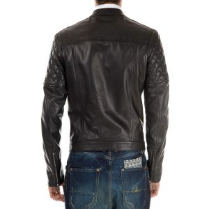 Genuine Leather Jacket Biker Coat Men's Slim Hand Made in Italy Cod.010 Rindway