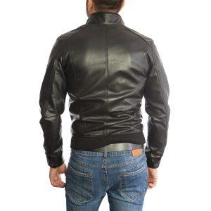Genuine Leather Jacket Biker Coat Men's Slim Hand Made in Italy Cod.096 Rindway