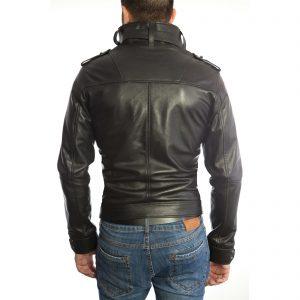 Giubbotto Giacca In Pelle PU Uomo Slim Produzione Artigianale Cod.100 Rindway