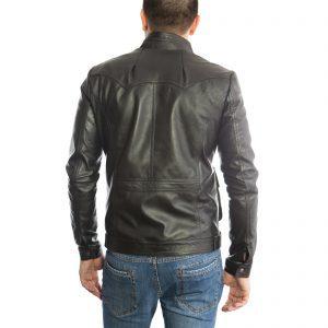 Giubbotto Giacca In Pelle PU Uomo Slim Produzione Artigianale Cod.103 Rindway