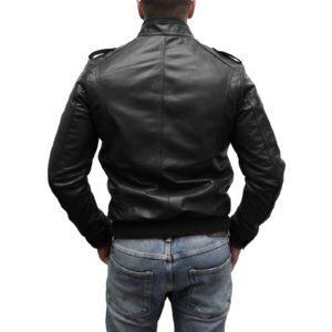 Giubbotto Giacca In Pelle PU Uomo Slim Produzione Artigianale Cod.176 Rindway