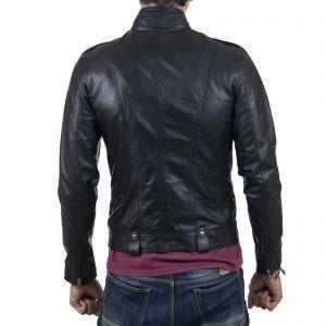 Giubbotto Giacca In Vera Pelle Uomo Slim Produzione Artigianale Cod.150 Rindway