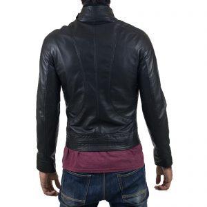 Genuine Leather Jacket Biker Coat Men's Slim Hand Made in Italy Cod.149 Rindway