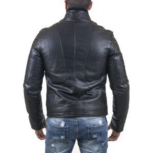 Giubbotto Giacca In Pelle PU Uomo Slim Produzione Artigianale Cod.173 Rindway