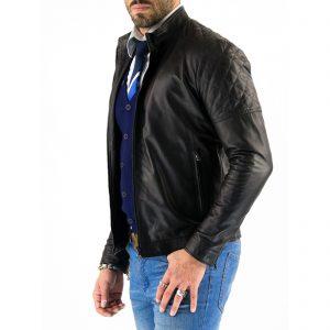 Giubbotto Giacca In Pelle PU Uomo Slim Produzione Artigianale Cod.207 Rindway