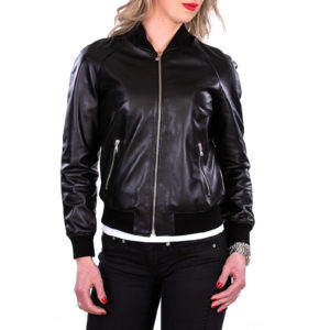 Genuine Leather Jacket Biker Coat Women Slim Hand Made in Italy Cod.001 Rindway