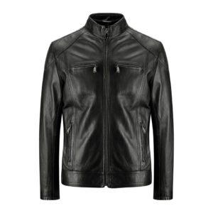 Genuine Leather Jacket Biker Coat Men's Slim Hand Made in Italy Cod.261 Rindway