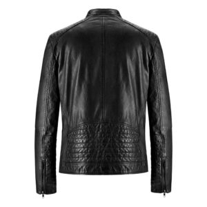 Genuine Leather Jacket Biker Coat Men's Slim Hand Made in Italy Cod.262 Rindway