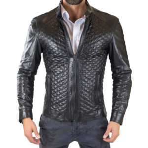 Genuine Leather Jacket Biker Coat Men's Slim Hand Made in Italy Cod.265 Rindway